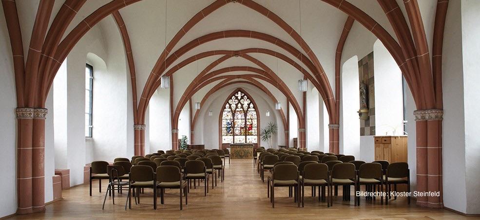Klosterreise, hier das Kloster Steinfeld zu sehen. Es befindet sich in der Eifel.