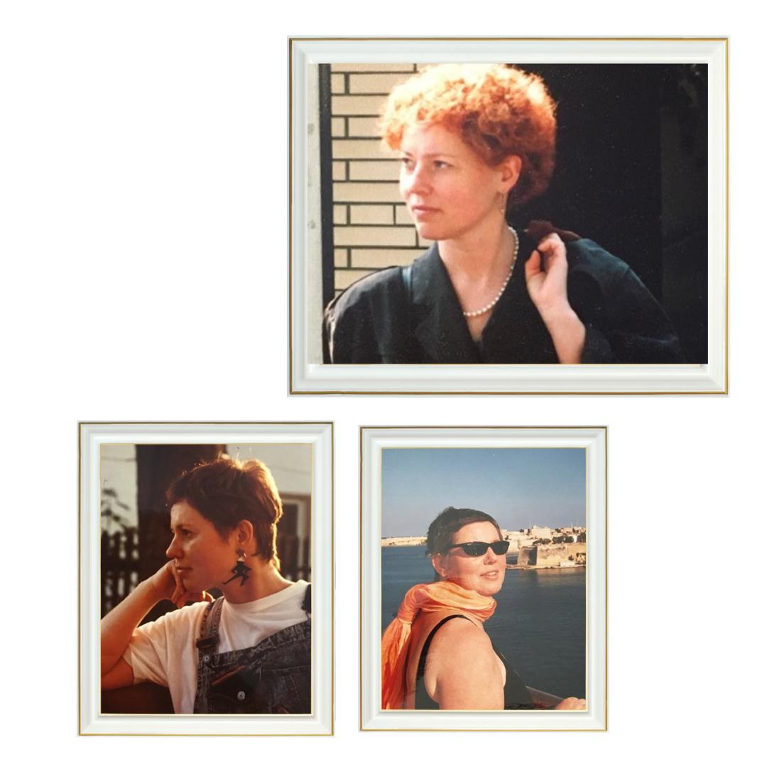 Ältere Fotos die einen Ausschnitt von Brigitte Jülich zeigen